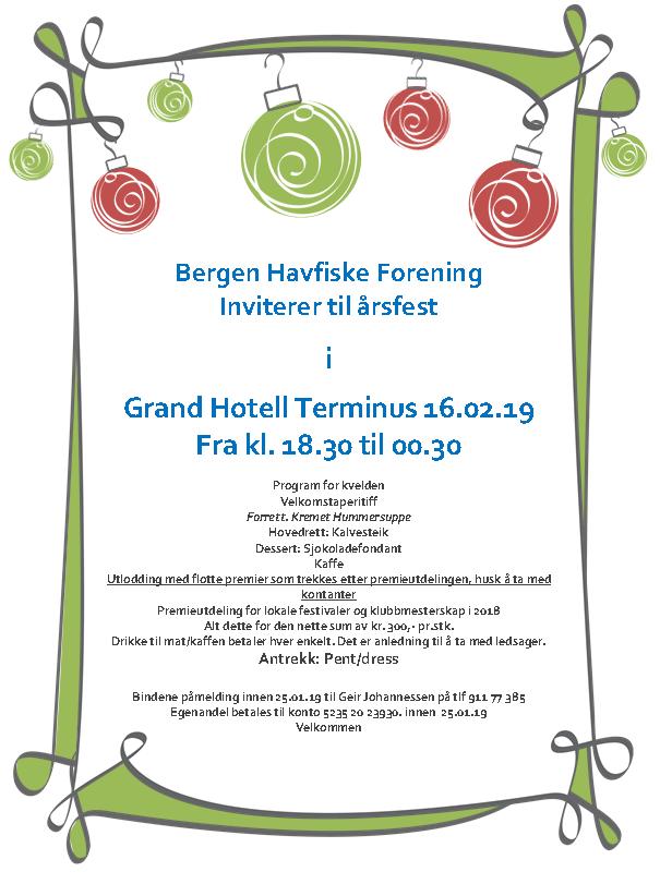 BHF årsfest invitasjon